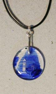 Smycke glas-silver